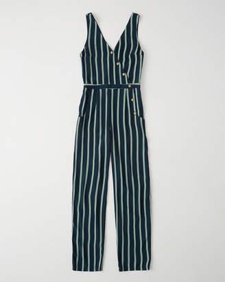 Abercrombie & Fitch Asymmetrical Button-Front Jumpsuit