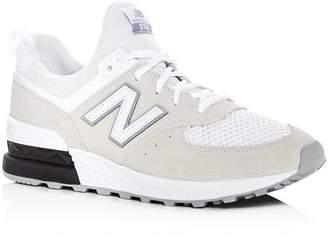 New Balance Men's 574 T3 Sport Suede & Knit Lace Up Sneakers