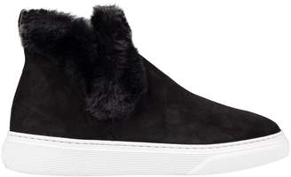 Hogan Fur Detail Hi-top Sneakers