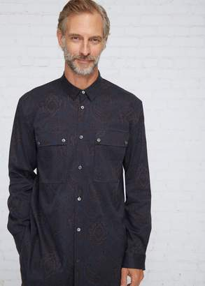 Robert Geller The Paisley Cupro Field Shirt