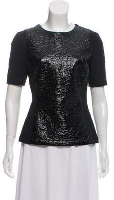 Elizabeth and James Textured Short Sleeve Top