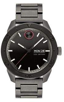 Movado BOLD Ionic-Plated Gunmetal Stainless Steel Bracelet Watch