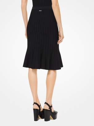 MICHAEL Michael Kors Stretch-Viscose Trumpet Skirt