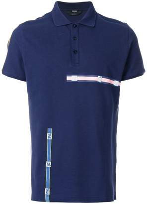 Fendi colour-block polo top