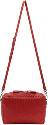 Bottega Veneta Red Intrecciato Crossbody Bag