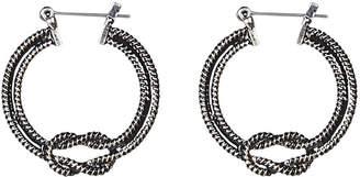 Avenue Knot Rope Hoop Earrings