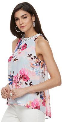 Women's Jennifer Lopez Floral Embellished Tank $54 thestylecure.com