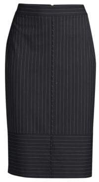 BOSS Pinstripe Pencil Skirt