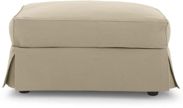 JCPenney FURNITURE PRIVATE BRAND Friday Twill Slipcovered Ottoman