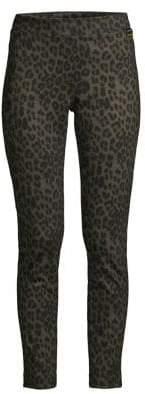 Calvin Klein Leopard-Print Cropped Leggings