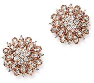 Bloomingdale's Diamond Flower Burst Stud Earrings in 14K Rose Gold, 1.0 ct. t.w. - 100% Exclusive