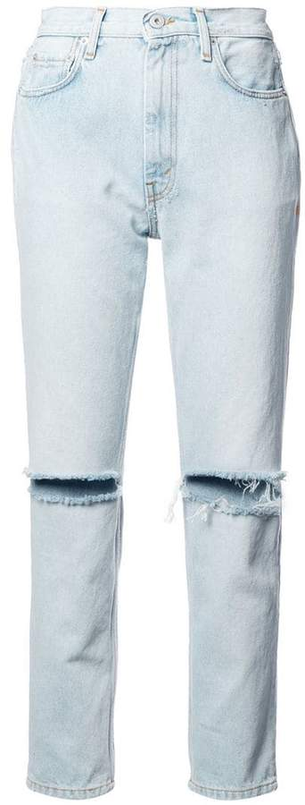 Heron Preston bleached ripped skinny jeans