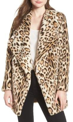 BB Dakota Leopard Faux Fur Jacket
