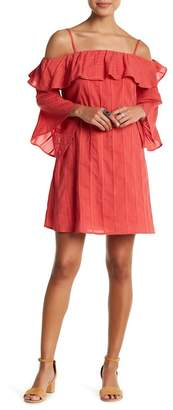 Jessica Simpson Hanna Cold Shoulder Ruffle Dress