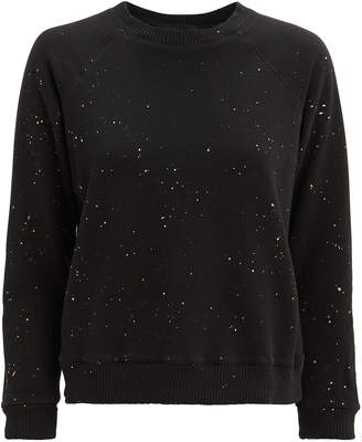 Monrow Splatter Black Sweatshirt
