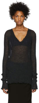 Ann Demeulemeester Black Ribbed Sweater