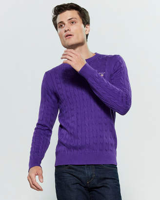 Gant Cable Knit Long Sleeve Sweater