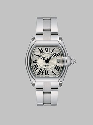 Cartier Roadster Stainless Steel Interchangeable Bracelet/Strap Watch