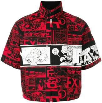 Prada comic print jacket