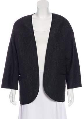 Ungaro Textured Open Front Jacket Black Textured Open Front Jacket