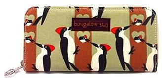 Bungalow 360 Bungalow360 Womens Canvas Large Zip-Around Wallet