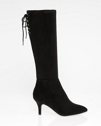 Le Château Suede-Like Pointy Toe Knee-High Boot