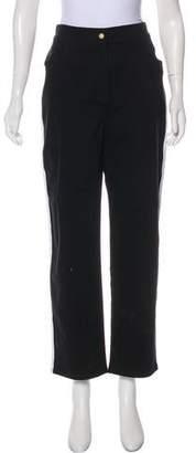 Balmain High-Rise Straight-Leg Jeans
