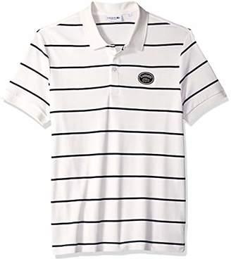 Lacoste Men's Short Sleeve PIMA HERTIAGE France Striped Polo, 4X
