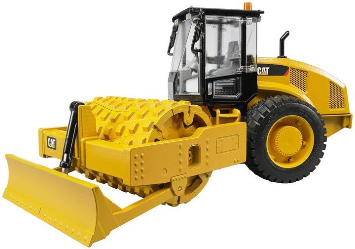 Bruder Cat Vibratory Soil Compactor With Leveling Blade Vehicle