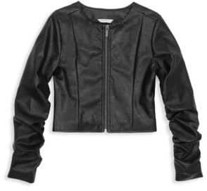 Habitual Girl Girl's Emma Faux Leather Jacket