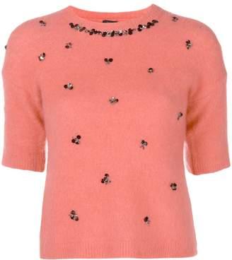 Pinko embellished shortsleeved jumper