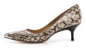 Michael Kors Trisha Snakeskin Kitten Heels