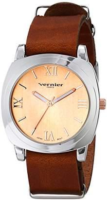 Vernier Paris Women's VNRP11174RG Analog Display Japanese Quartz Brown Watch