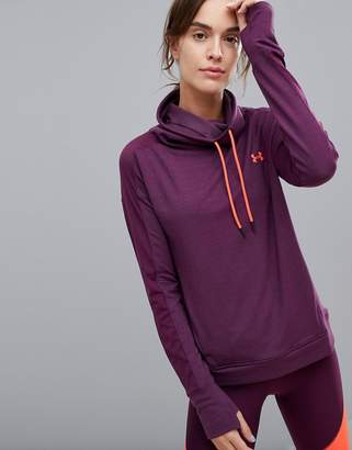 Under Armour Feather Weight Funnel Neck Fleece In Burgundy
