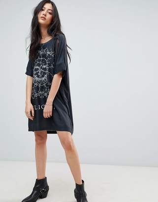 Religion Immortal Dress in Root Graphic Print