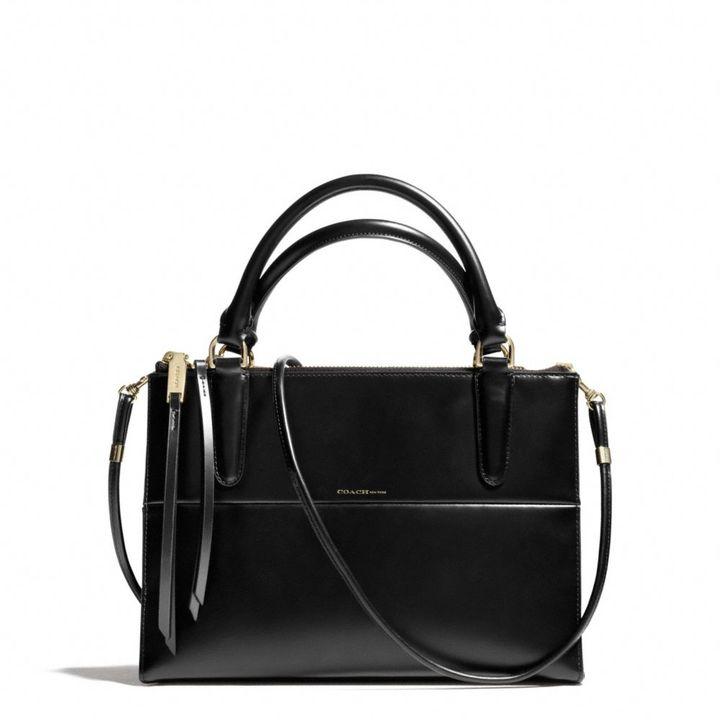 The Mini Borough Bag In Polished Calfskin
