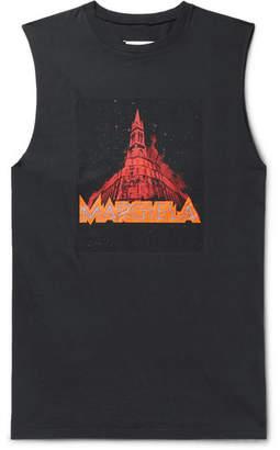 Maison Margiela Printed Cotton-Jersey Tank Top