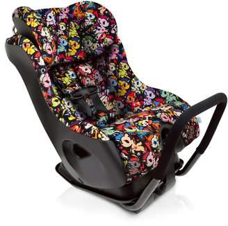 Clek Fllo Convertible Baby and Toddler Car Seat Rear and Forward Facing with Anti Rebound Bar, Tokidoki Unicorno Disco