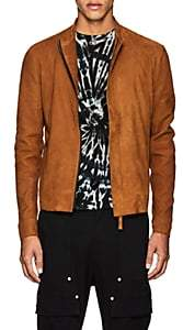Barneys New York Lot 78 x LOT 78 X MEN'S SUEDE BIKER JACKET-MED. BROWN SIZE 48