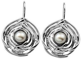 Hagit Gorali Cultured FW Pearl Sculpted Earrings, Sterling