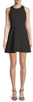 Elizabeth and James Carter Lace-Up Fit-And-Flare Dress