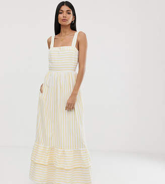 Y.A.S Tall stripe tiered maxi dress