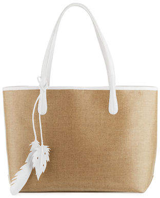 Nancy Gonzalez Erica Medium Linen Leaf Tote Bag