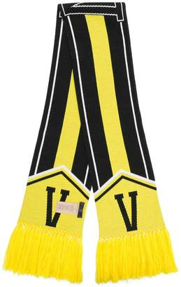 Versace intarsia logo scarf