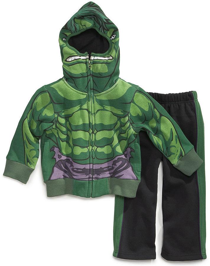 Nannette Little Boys' The Hulk Hoodie & Pants