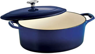 Tramontina Gourmet 5-qt. Enameled Cast Iron Covered Oval Dutch Oven