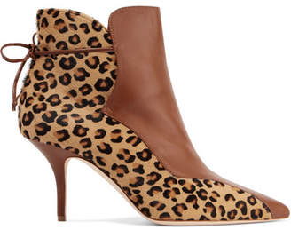 Malone Souliers Jordan Leopard-print Calf Hair And Leather Ankle Boots - Leopard print
