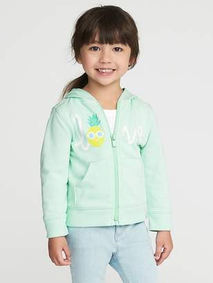 """Old Navy """"Love"""" Pineapple French Terry Hoodie for Toddler Girls"""