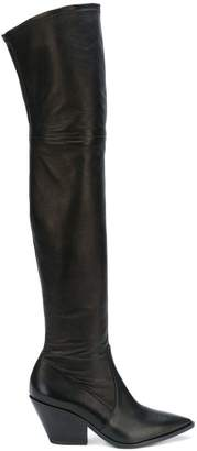 Casadei block heel over-the-knee boots