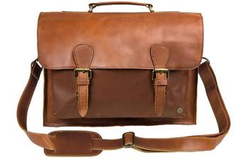 Mahi Leather Brown Leather Messenger Satchel Bag